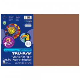 Tru Ray 12 X 18 Brown 50 Sht Construction Paper