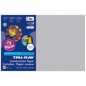 Tru Ray 12 X 18 Gray 50 Sht Construction Paper