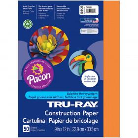 Tru Ray 9 X 12 Pumpkin 50 Sht Construction Paper