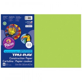 "Construction Paper, Brilliant Lime, 12"" x 18"", 50 Sheets"