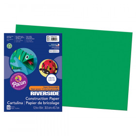 "Construction Paper, Holiday Green, 12"" x 18"", 50 Sheets"