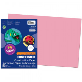 Riverside 12X18 Pink 50 Sht Construction Paper