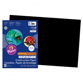 "Construction Paper, Black, 12"" x 18"", 50 Sheets"