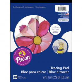 "Tracing Paper Pad, Translucent, 9"" x 12"", 40 Sheets"
