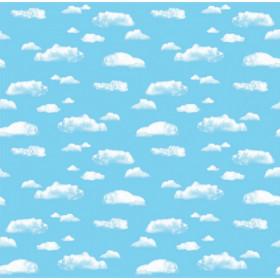 """Corrugated Paper, Clouds, 48"""" x 12-1/2', 1 Roll"""