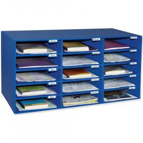 "Mailbox, 15-Slot, Blue, 16-3/8""H x 31-1/2""W x 12-7/8""D"
