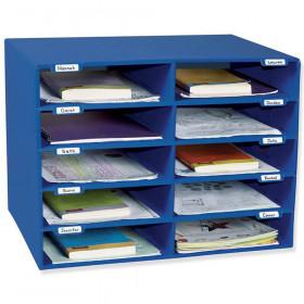 "Mailbox, 10-Slot, Blue, 16-5/8""H x 21""W x 12-7/8""D"