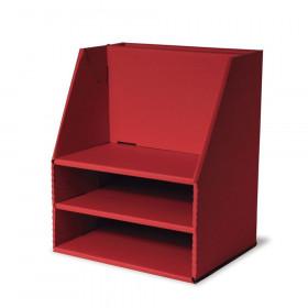 "Desk Organizer, Red, 16-1/2""H x 13-1/2""W x 10-3/4""D"