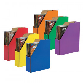"""Magazine Holders, 6 Assorted Colors, 12-3/8""""H x 3-1/8""""W x 10-1/4""""D, 6 Holders"""