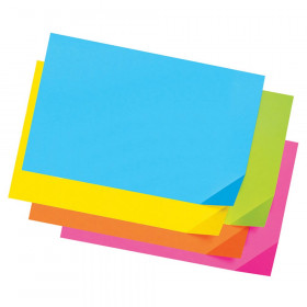 "Super Bright Assorted Tagboard, 5 Super Bright Assorted Colors, 12"" x 18"", 100 Sheets"
