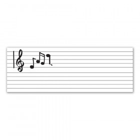 "Dry Erase Music Staff Roll, Self-Adhesive, Music Staff, 17"" x 4', 1 Roll"