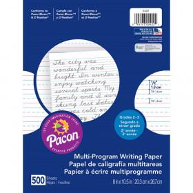 "Multi-Program Handwriting Paper, 1/2"" Ruled (Short Way), White, 10-1/2"" x 8"", 500 Sheets"