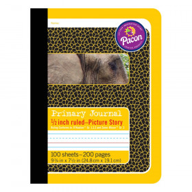 "Primary Composition Book, Book Bound, D'Nealian Grades/Zaner-Bloser, 1/2"" x 1/4"" x 1/4"" Picture Story Ruled, 9-3/4"" x 7-1/2"", 100 Sheets"