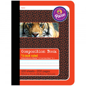 "Primary Composition Book, Book Bound, D'Nealian/Zaner-Bloser, 5/8"" x 5/16"" x 5/16"" Ruled, 9-3/4"" x 7-1/2"", 100 Sheets"