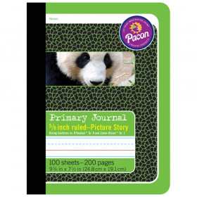 """Primary Composition Book, Book Bound, D'Nealian/Zaner-Bloser, 5/8"""" x 5/16"""" x 5/16"""" Picture Story Ruled, 9-3/4"""" x 7-1/2"""", 100 Sheets"""