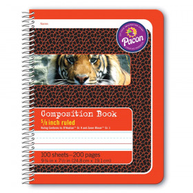 "Primary Composition Book, Spiral Bound, D'Nealian/Zaner-Bloser, 5/8"" x 5/16"" x 5/16"" Ruled, 9-3/4"" x 7-1/2"", 100 Sheets"