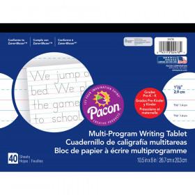 "Multi-Program Handwriting Tablet, Zaner-Bloser, 1-1/8"" x 9/16"" x 9/16"" Ruled Long, 10-1/2"" x 8"", 40 Sheets"