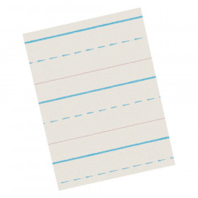 "Newsprint Handwriting Paper, Skip-A-Line, Grade 1, 1/2"" x 1/4"" x 1/4"" Ruled Long, 11"" x 8-1/2"", 500 Sheets"