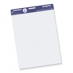 """Easel Pad, Non-Adhesive, White, Unruled 27"""" x 34"""", 50 Sheets"""