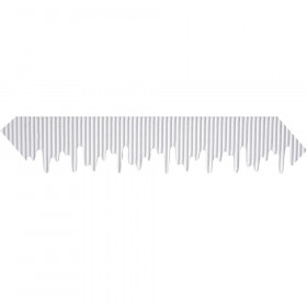 "Decorative Border, Icicles, White, 2-1/4"" x 25', 1 Roll"