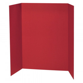 "Presentation Board, Red, Single Wall, 48"" x 36"", 1 Board"