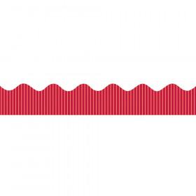 "Decorative Border, Metallic, Red, 2-1/4"" x 25', 1 Roll"