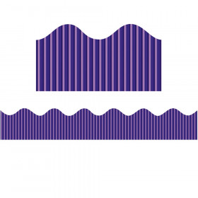 "Decorative Border, Metallic, Purple, 2-1/4"" x 25', 1 Roll"