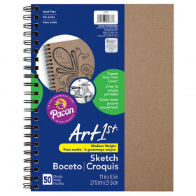 "Create Your Own Cover Sketch Diary, Natural Chip Cover, 11"" x 8-1/2"", 50 Sheets"