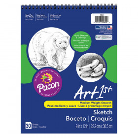 "Sketch Book, Standard Weight, 9"" x 12"", 30 Sheets"
