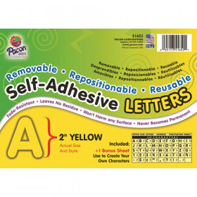 Self Adhesive Letter 2In Yellow
