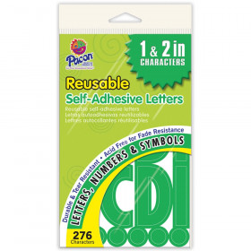 """Self-Adhesive Letters, Green, Classic Font, 1"""" & 2"""", 276 Characters"""