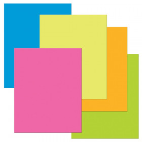 "Premium Coated Poster Board, 5 Assorted Neon Colors, 22"" x 28"", 25 Sheets"
