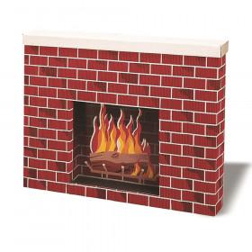 "Corrugated Fireplace, Tu-Tone Brick, 30""H x 38""W x 7""D, 1 Fireplace"