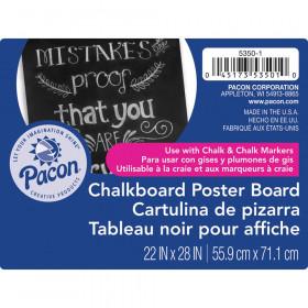 "Premium Chalkboard Poster Board, Black, 22"" x 28"", 25 Sheets"