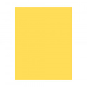 "Coated Poster Board, Yellow, 22"" x 28"", 25 Sheets"