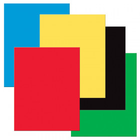 """Premium Coated Poster Board, 5 Primary Assorted Colors, 22"""" x 28"""", 25 Sheets"""