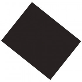 "Coated Poster Board, Black, 22"" x 28"", 25 Sheets"