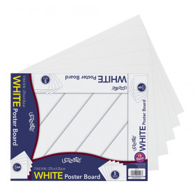 """Poster Board, White, 11"""" x 14"""", 5 Sheets"""