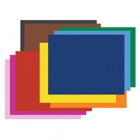 """4-Ply Railroad Board, 10 Assorted Colors, 22"""" x 28"""", 50 Sheets"""