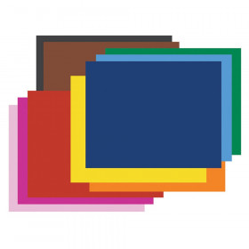 """6-Ply Railroad Board, 10 Assorted Colors, 22"""" x 28"""", 100 Sheets"""