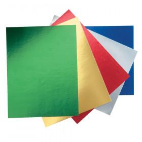 "Metallic Foil Board, 5 Assorted Colors, 22"" x 28"", 25 Sheets"