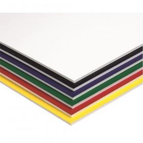 "Foam Board, 6 Assorted Colors, 20"" x 30"", 10 Sheets"