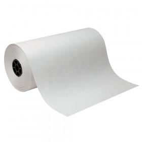 "Lightweight Kraft Paper Roll, White, 18"" x 1000', 1 Roll"