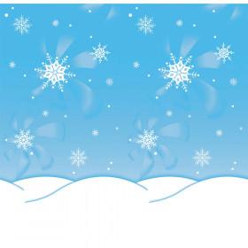 "Bulletin Board Art Paper, Winter Time, 48"" x 12', 4 Rolls"
