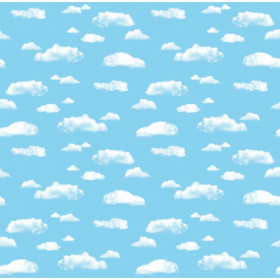 "Bulletin Board Art Paper, Clouds, 48"" x 50', 1 Roll"