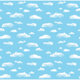"Bulletin Board Art Paper, Clouds, 48"" x 12', 4 Rolls"