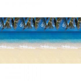 "Bulletin Board Art Paper, Tropical Beach, 48"" x 12', 4 Rolls"