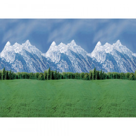 "Bulletin Board Art Paper, Mountains, 48"" x 50', 1 Roll"