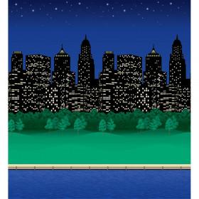 "Bulletin Board Art Paper, City Lights, 48"" x 50', 1 Roll"