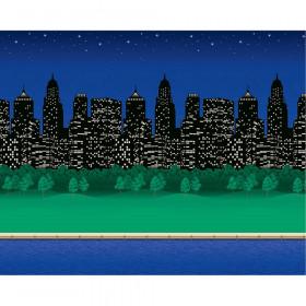 "Bulletin Board Art Paper, City Lights, 48"" x 12', 4 Rolls"